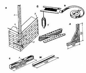 Контрольно-измерительный инструмент каменщика
