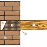 Заделка деревянной балки в кирпичную стену