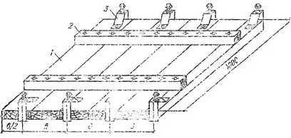 Схема инвентарного накладного щита с полосовыми электродами