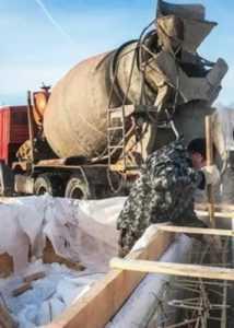 Укладка бетона в зимних условиях