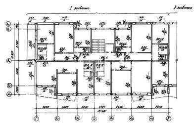 Монтажный план секции крупнопанельного дома