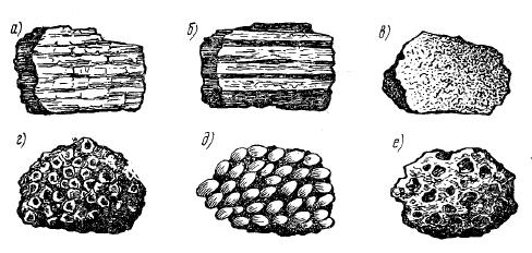 Разновидности текстур горных пород