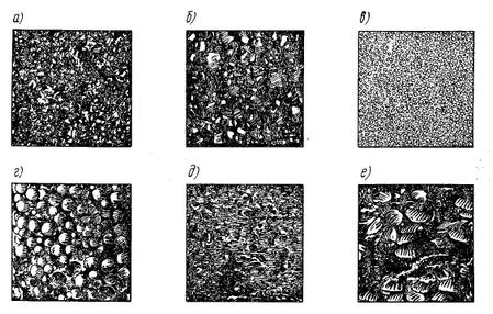 Разновидности структур горных пород