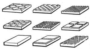 Разновидности керамических плиток для полов и тротуаров