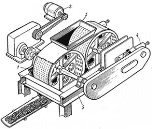 Вальцы для формования гранул керамзита